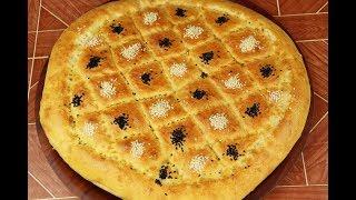 خبز رمضاني تركي مشهور خبز البيدا القطني بالملعقة فقط بدون عجن مع رباح محمد ( الحلقة 463 )
