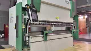 Rico Press Brake with Akas 3P laser beam provide an impressive bending cycle time.