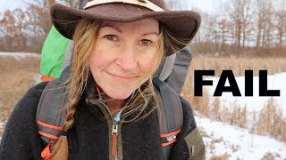 Epic Camping Fail ~ Owning your mistakes ~ Solo overnight