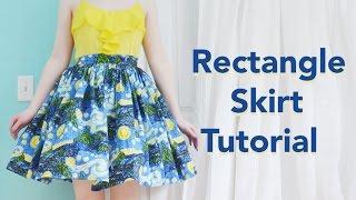 Rectangle Skirt Tutorial / Starry Night Skirt