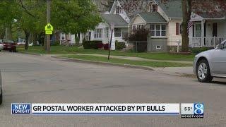 GR postal worker hospitalized after pit bull attack