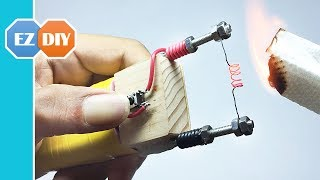 How to Make an Electric Hot Wire Lighter Using Battery - Life Hacks | DIY