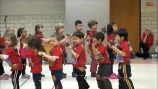American Kids Dancing Maglalatik, Filipino Coconut Folk Dance