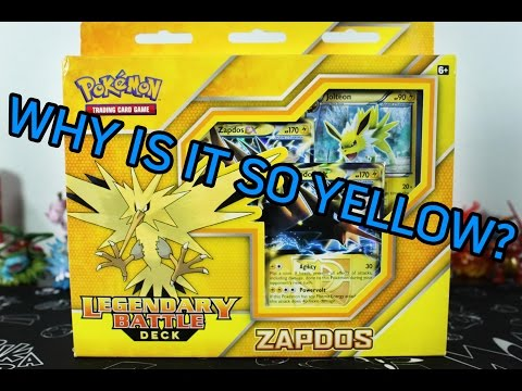 Pokemon Cards - Zapdos Legendary Battle Deck Opening! Love Zapdos...Hate YELLOW!