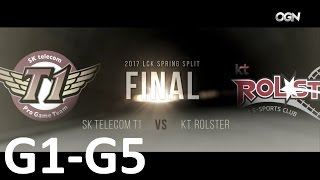 SKT vs KT Game 1-5 Highlights - 2017 LCK SPRING SPLIT FINAL - FULL HIGHLIGHTS