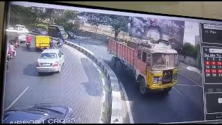 CCTV Footage of Road accident in Bowenpally on 28.01.2017