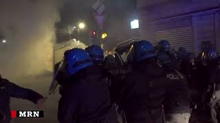 Turin anarchists clash with police
