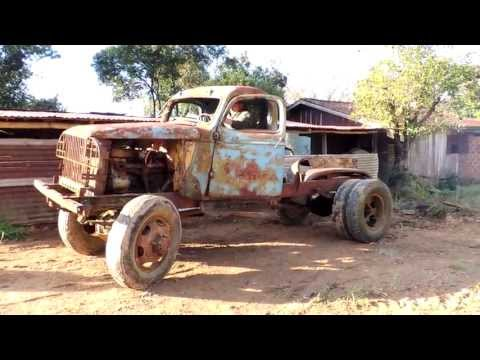 Ligando caminhão Chevrolet 6 cilindros militar