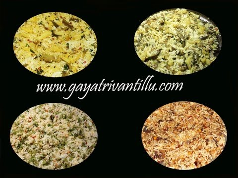 Lunch Box Recipes- Indian Andhra Telugu Recipes - Vegetarian Cuisine Food