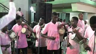 Teenagers praising God with Talking Drum #PMOA