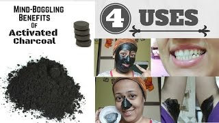 CHARCOAL powder(ACTIVATED CARBON) uses n benefits for skin (4 uses) MIRACLE POWDER।चारकोल के फायदे।