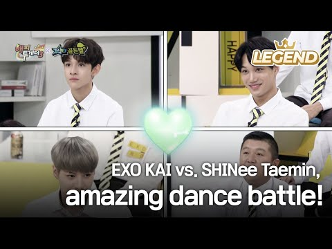 EXO KAI vs. SHINee Taemin, amazing dance battle! [Happy Together / 2017.08.31]