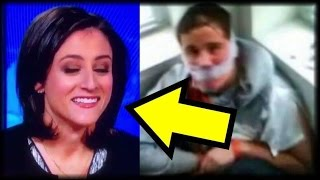 SICK! CNN REPORTER CAUGHT LAUGHING WHILE WATCHING DISABLED TRUMP SUPPORTER TORTURE FOOTAGE ON AIR!