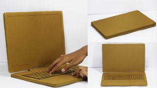 How to Make a laptop from cardboard | DIY at Home