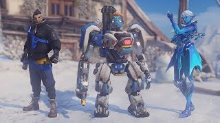 Winter Wonderland 2017 - Skins, Emotes, Poses, Voice Lines [Overwatch]