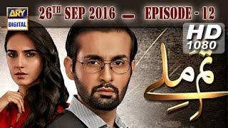 Tum Milay Ep 12 - 26th September 2016 - ARY Digital Drama