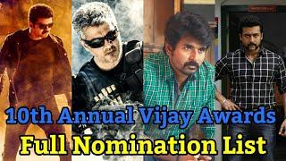 Nominees Of 10th Annual Vijay Awards | Full List | Vijay Awards 2018 | HiFi Today's Spark