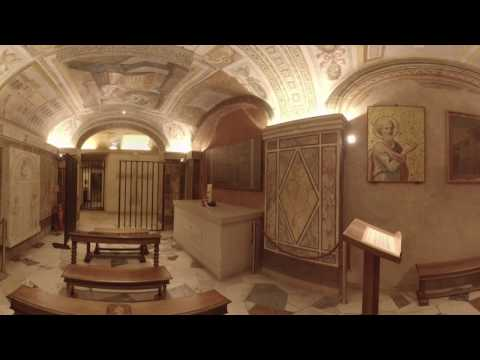 360 Video Inside the Tomb of St. Peter at the Vatican