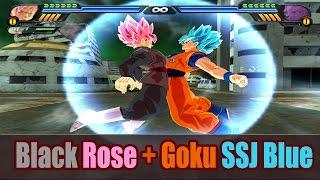 Goku SSG Blue and Black Goku Rose Fusion | Saiyan Blue Rose | DBZ Tenkaichi 3 (MOD)