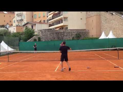Grigor Dimitrov serve target practice Monte Carlo 2017