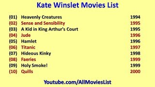 Kate Winslet Movies List