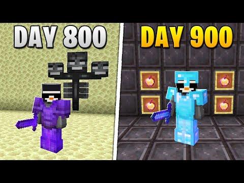 I Survived 900 Days in HARDCORE Minecraft