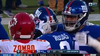 Giants Defeat Chiefs on a Game-Winning Field Goal!   NFL