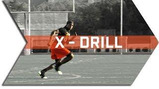 X - DRILL - FOOTBALL SPEED & AGILITY TRAINING - CONE DRILLS