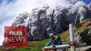 Video: Japan volcano shoots rock & ash on Mount Ontake - BBC News