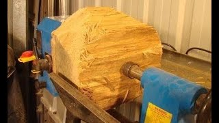 Wood-turning an $87,000 bowl extreme woodworking