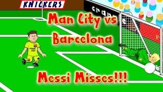 Man City vs Barcelona 1-2 CHAMPIONS LEAGUE CARTOON! by 442oons