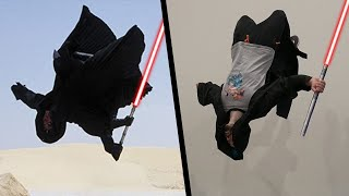 Doing Stunts From Star Wars In Real Life (Parkour & Lightsaber!)