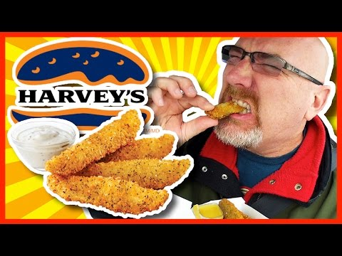 DEEP FRIED PICKLES!!! Harvey's  Review Plus 2 Sauces Peppercorn Ranch & Honey Mustard