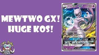 Mewtwo GX - Awesome New Pokémon GX Does Big Damage!