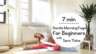 7 min Yoga | Gentle Morning Yoga for Beginners with Sara Ticha