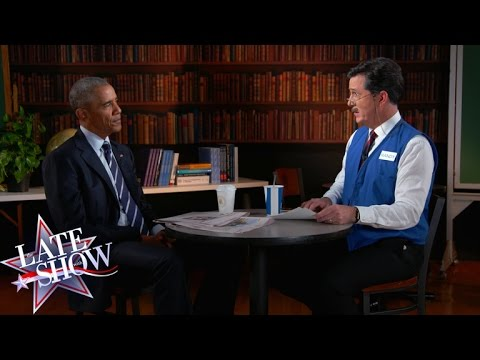 watch Stephen Helps President Obama Polish His Résumé