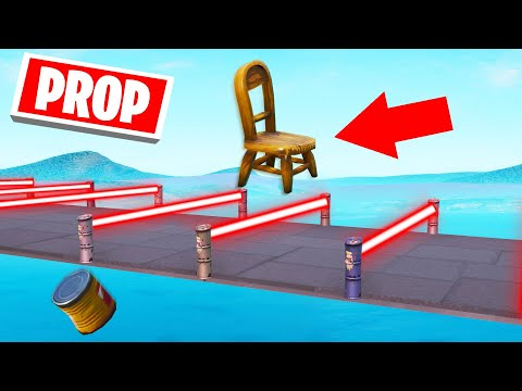DODGE The LASERS Using PROPS Fortnite Prop Deathrun