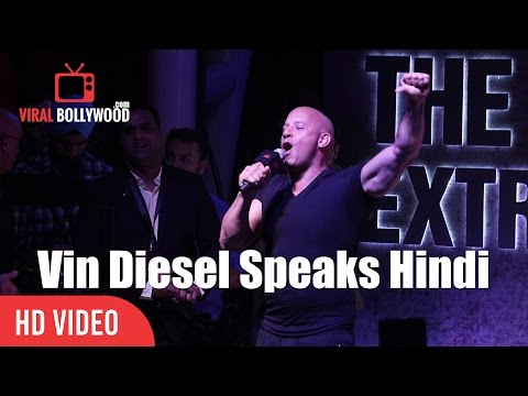 Xxx Mp4 Vin Diesel Speaks Hindi For His Fans In India XXX Return Of Xander Cage Promotions 3gp Sex