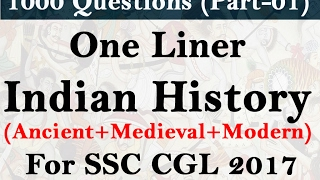1000 Indian History Questions for SSC CGL