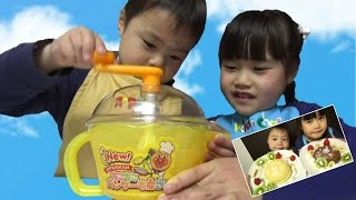 アンパンマン New!もこもこパンケーキ屋さん 料理 クッキングトイ おもちゃ こうくんねみちゃん Anpanman toy