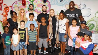 WWE Superstars bring smiles to The Brooklyn Hospital Center and The Children's Hospital at Montefi..