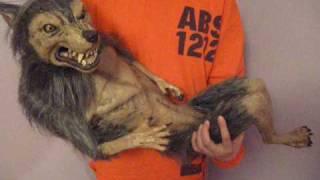 Baby Werewolf Puppet Halloween Haunted House Prop