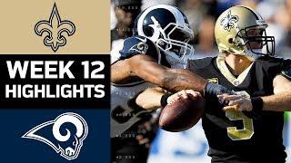 Saints vs. Rams | NFL Week 12 Game Highlights