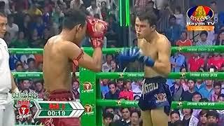 Phal Sophorn Cambodia Vs Farmichai, Thailand, Khmer Warrior Boxing Bayon TV Boxing 12 August 2018