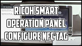 Ricoh Connector app Configure NFC Tag on MFP