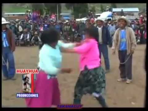 Housewife Fight Tournament In South American Village