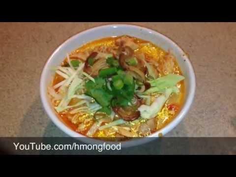 How to make Khaub Poob - Kao poon, Kapoon, Kapong