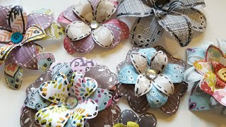 HOW TO MAKE ARTSY PAPER FLOWERS USING SCRAPS   PAPER CRAFTING