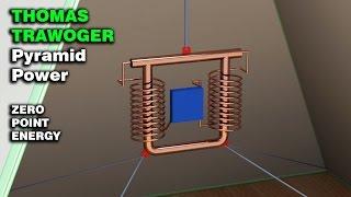 Free Energy Generator, THOMAS TRAWOGER Pyramid Power, Zero point energy