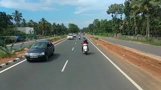 Ksrtc VOLVO bus rear view cam video of Kazhakootam - Kareetu Road  timelapse